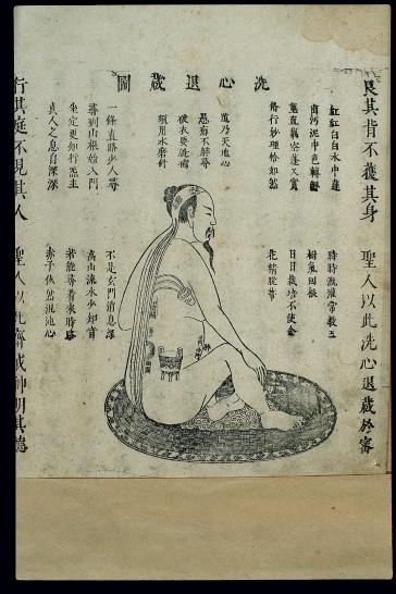 L0038974 Chinese woodcut: Daoist internal alchemy (4)