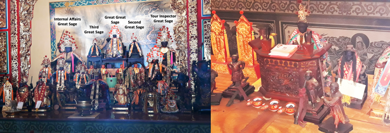 altar statues and sergeant great sage