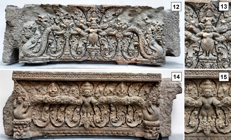 Cambodian lintel with detail - 1