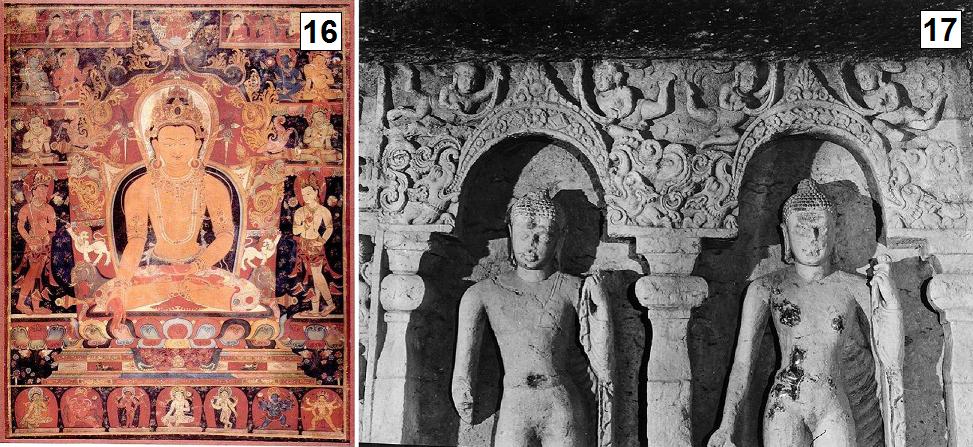 Nepalses Thangka with double gates of glory