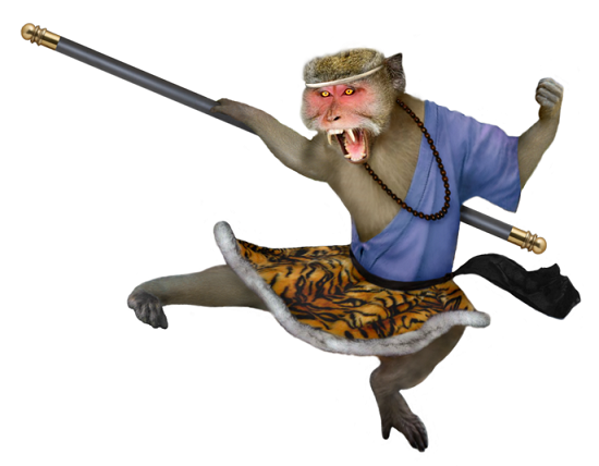 Monkey King Kicking - small