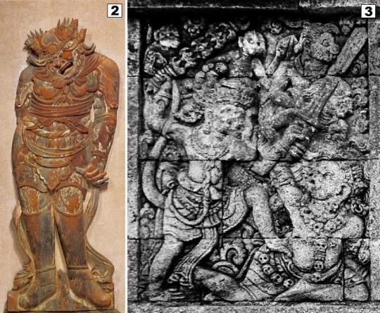 Kofukuji andira and Hanuman sculpture - small