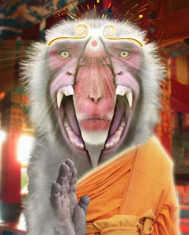 Monkey Buddha Has Awakened - small