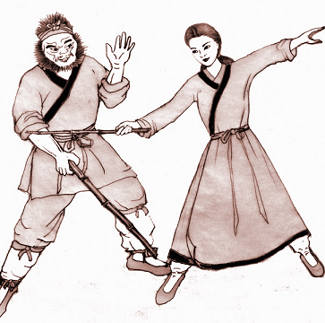 Maiden of Yue vs Old Man Yuan (the white ape) - small